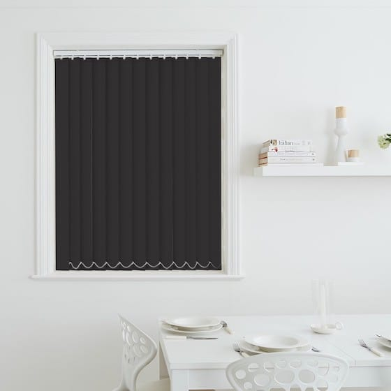 Sleek Charcoal Blackout Vertical Blind
