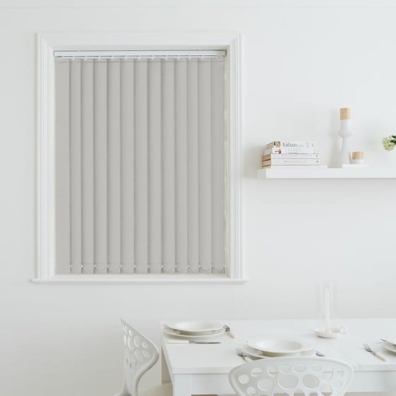Sleek Grey Blackout Vertical Blind