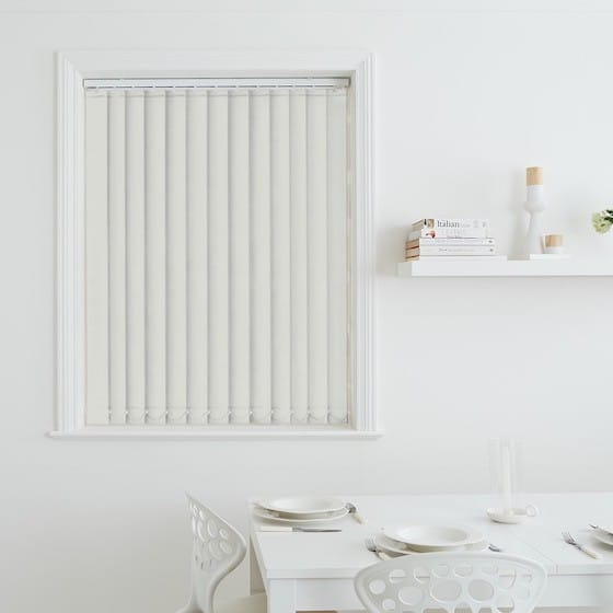 Sleek Ivory Blackout Vertical Blind