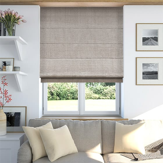 Snowdonia Neutral Grey Roman Blind