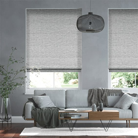 Soft Chenille Grey Roman Blind