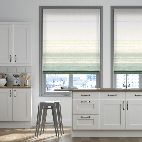 Sunrise Azure Roman Blind