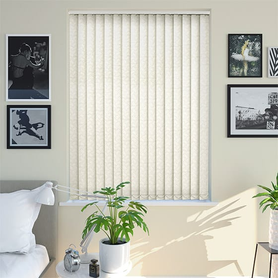 Theo Blackout Vanilla Blackout Vertical Blind