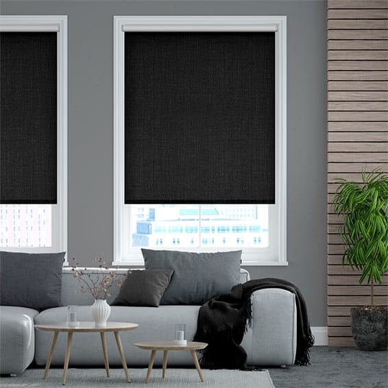 Thermo Linen Obsidian Roller Blind