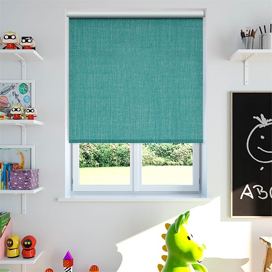 Thermo Linen Turquoise Roller Blind