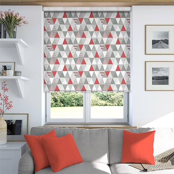 Triangle Crimson Roller Blind