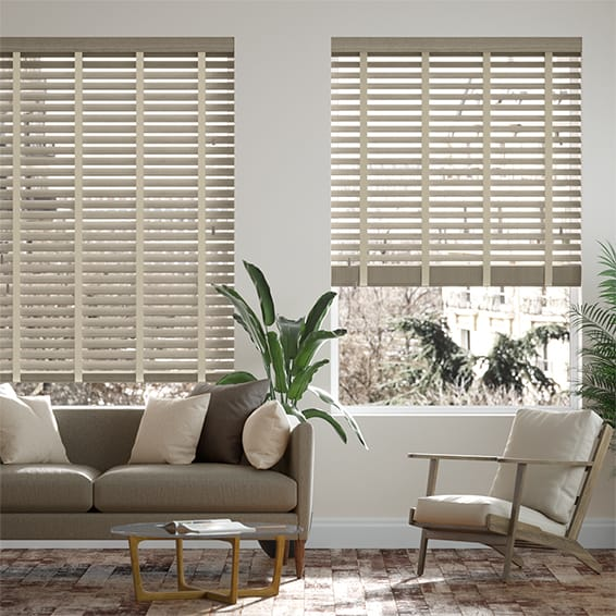 Urbanite Ash Bark with Platinum Wooden Blind