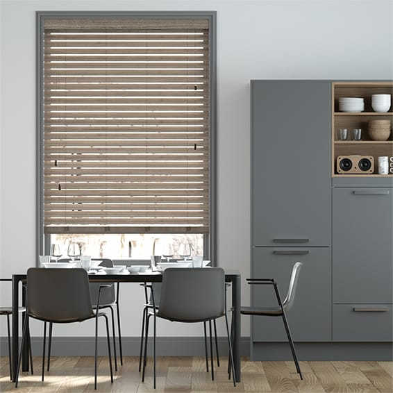 Urbanite Japanese Umber Wooden Blind