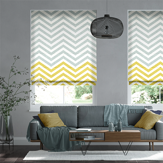 Vector Border Dandelion Roman Blind
