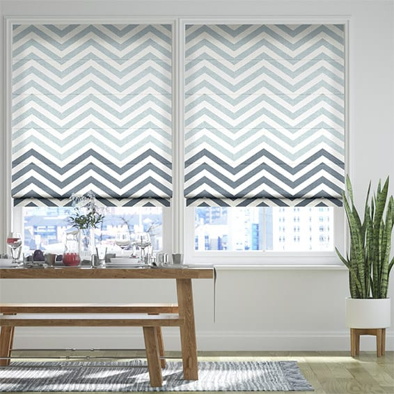 Vector Border Denim Roman Blind