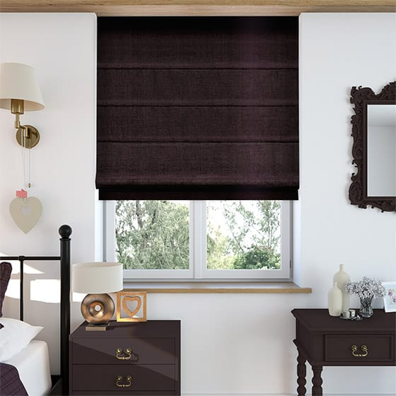 Velvet Dark Purple Roman Blind