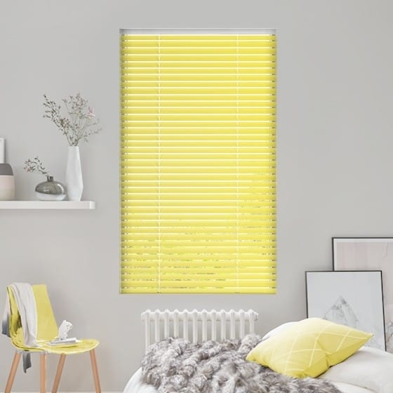 Warm Yellow Venetian Blind