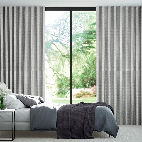 Wave Ecliptic Warm Silver Curtains