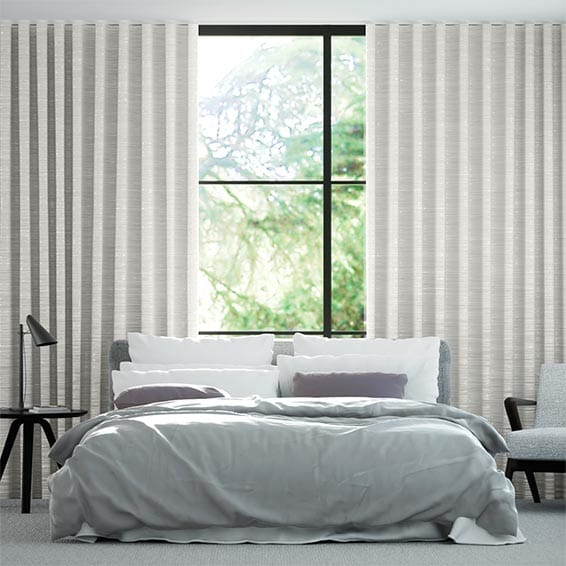 Wave Faux Silk Luxe Ivory Curtains