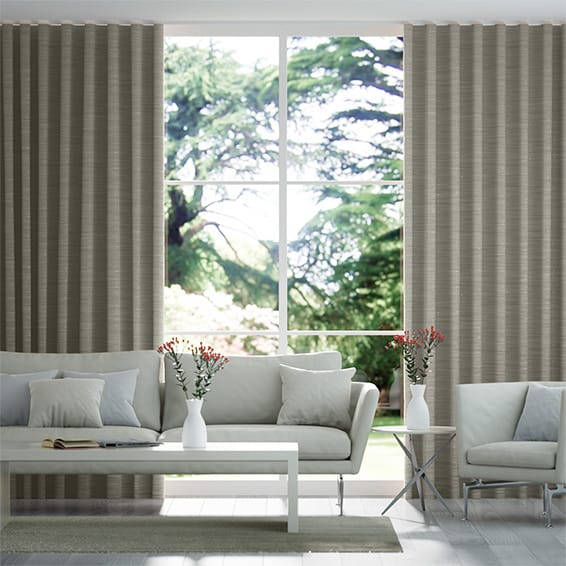 Wave Faux Silk Luxe Pebble Curtains