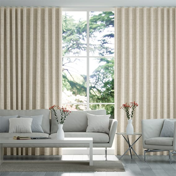 Wave Linen Weave Rustic Curtains