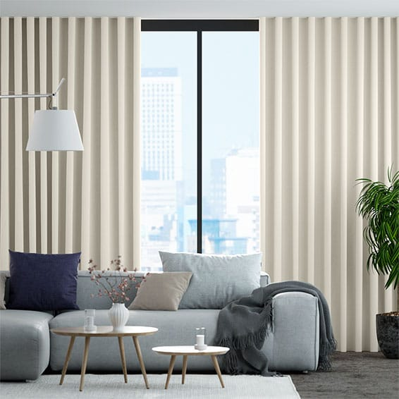 Wave Pembroke Soft White Curtains