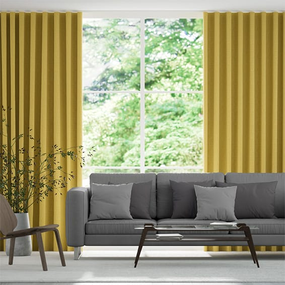 Wave Pembroke Yellow Curtains