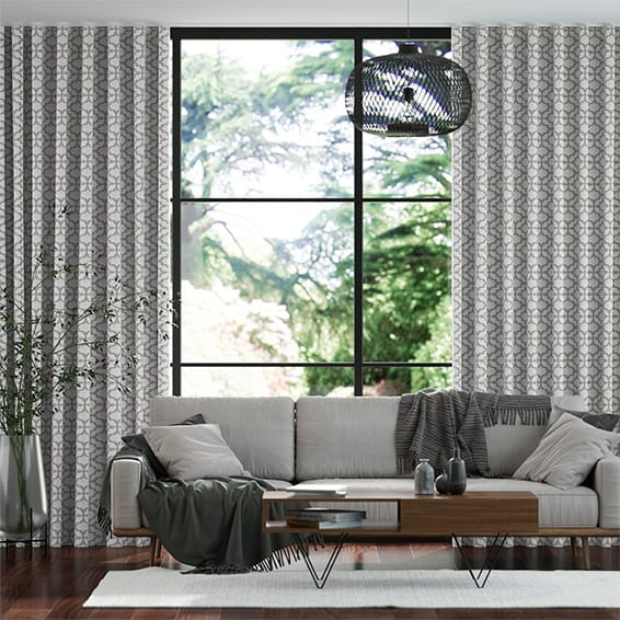 Wave Provenza Silver Curtains