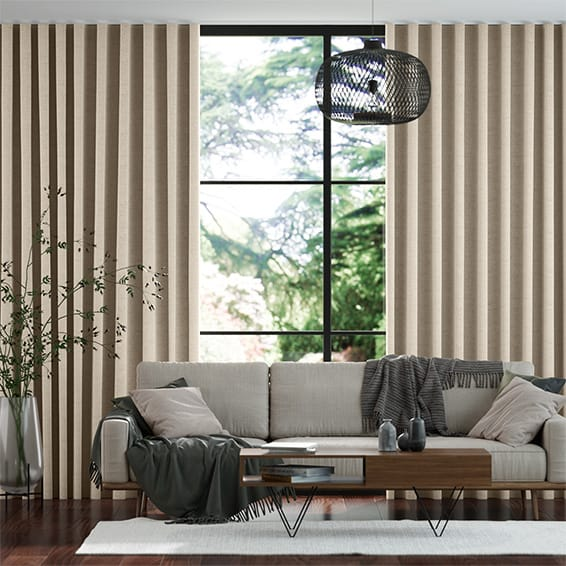 Wave Simply Linen Soft Cream Curtains