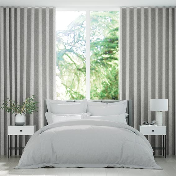 Wave Soft Chenille Grey Curtains