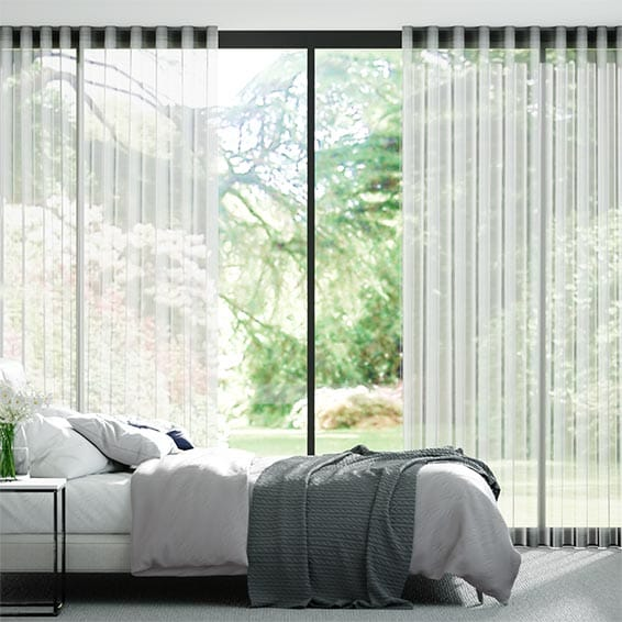 Wave Tahiti Voile Snow Curtains