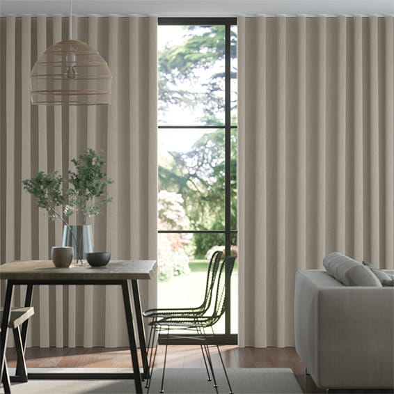Wave Toulouse Essence Grey Curtains