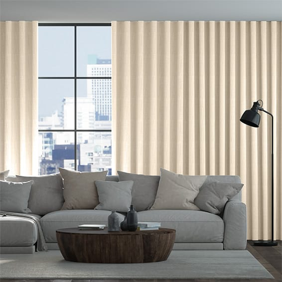 Wave Toulouse Honey White Curtains